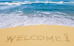 welcome on beach